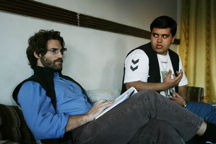 Khalid Hussein, a translator in the Times's Baghdad bureau, saved my life several times. He was shot and killed not long after this interview. Baghdad, 2004