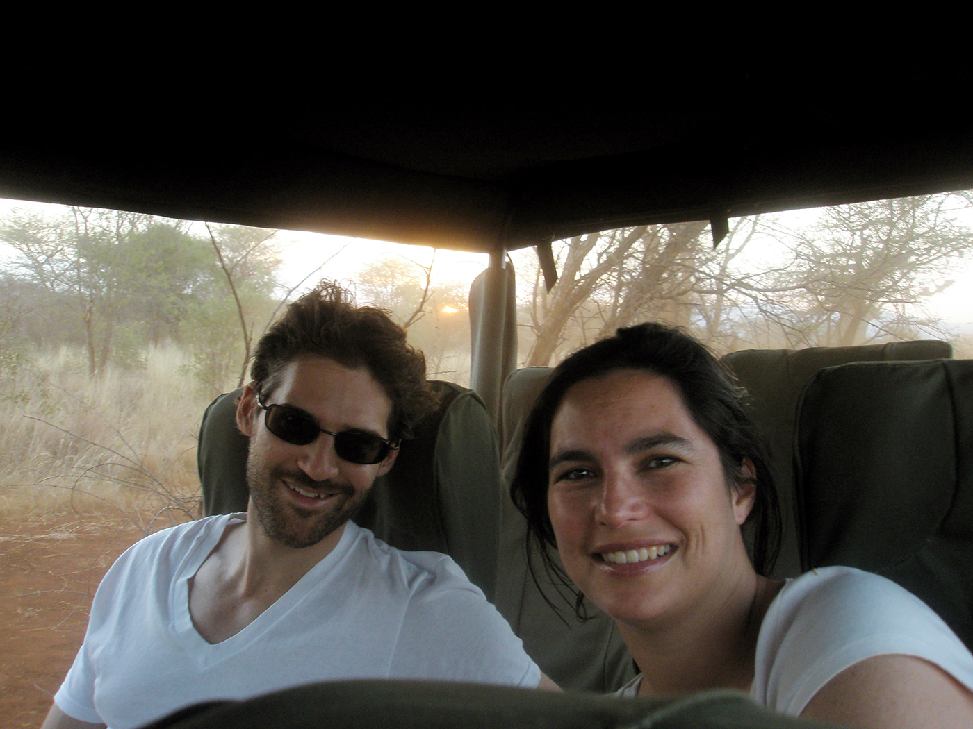 On safari, not far from our house, in Kenya