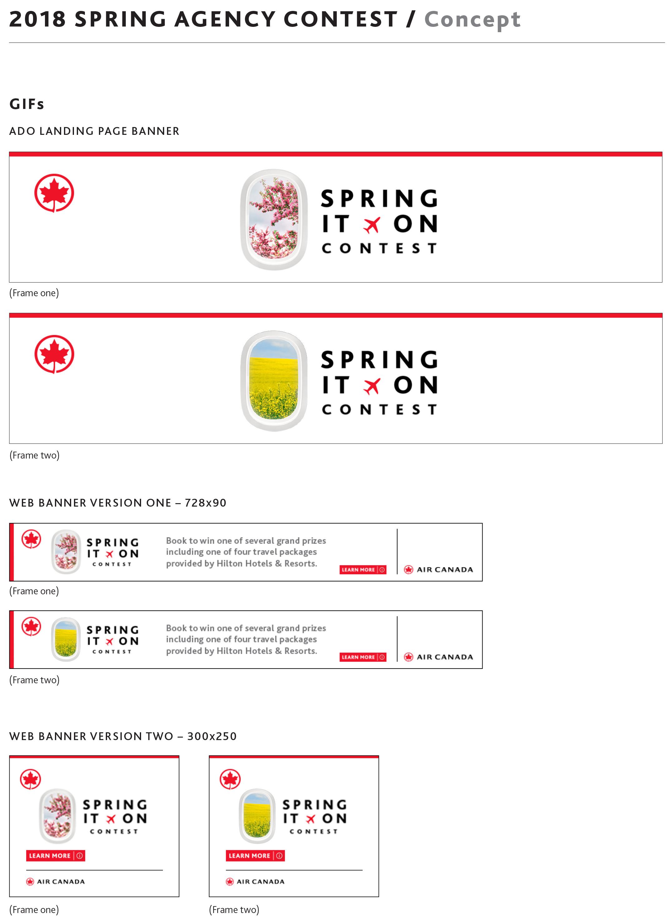 Spring it on travel agency Air Canada ad.jpg