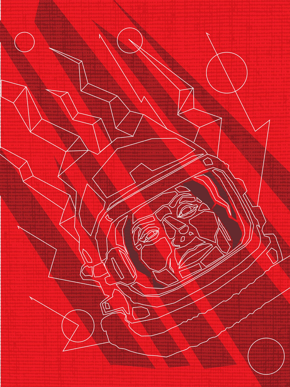 """Offworld II - 16""""x20"""" - $125"""