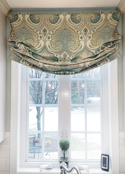 Faux roman shade – relaxed style