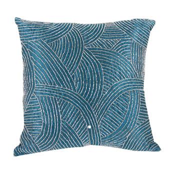 "Set of 2 18"" Beaded Pillows"