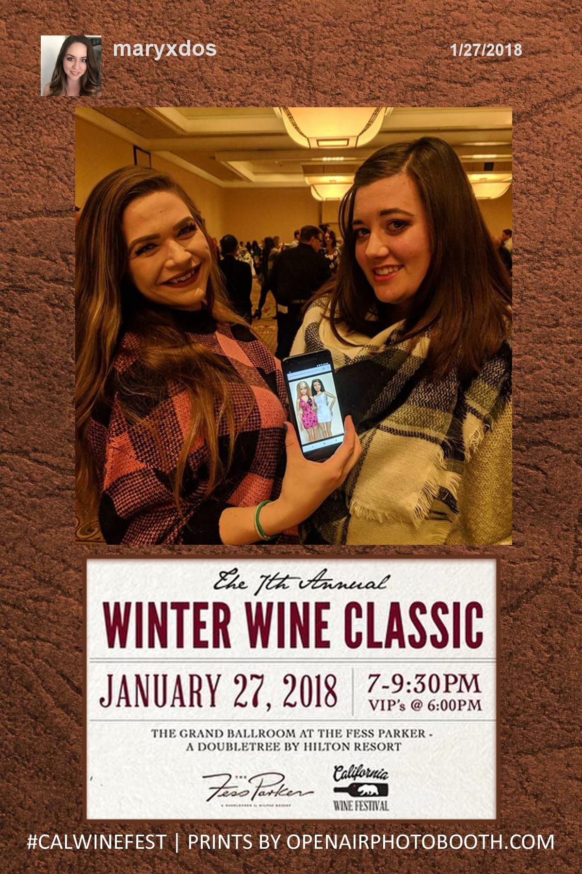 Winter Wine Classic - Hashtag Printer 1