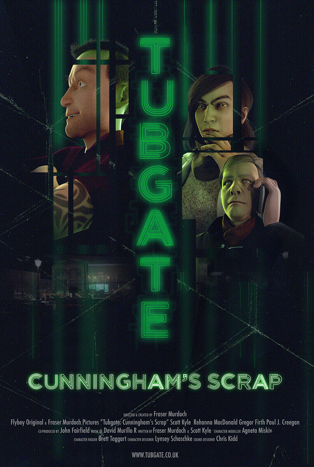 "Scott starts in the animation ""Tubgate: Cunningham's Scrap"" as the lead character Bab. For more information, visit  www.tubgate.co.uk"