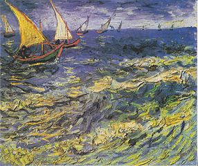 Seascape at Saintes-Maries (Fishing Boats at Sea)