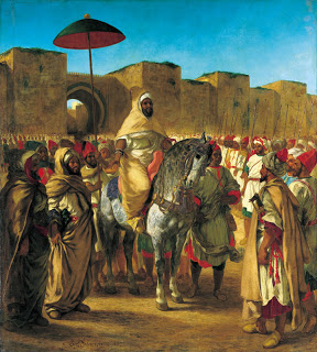 Sultan of Morocco, (1845) Eugene Delacroix