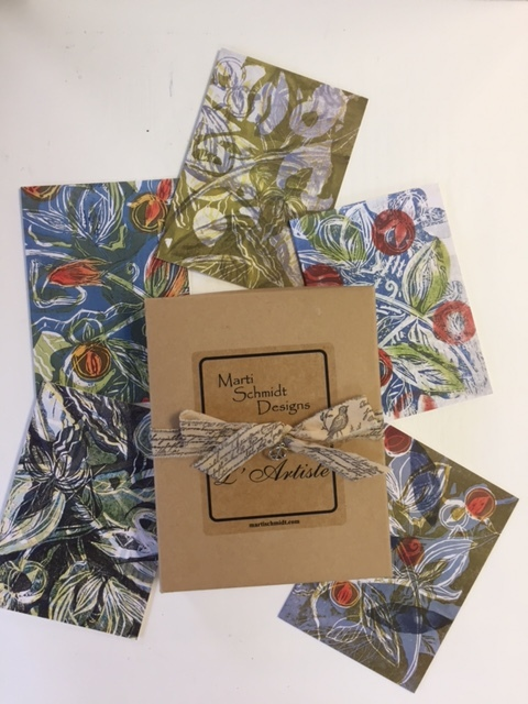 BOTANICAL WOODBLOCK NOTE CARDS