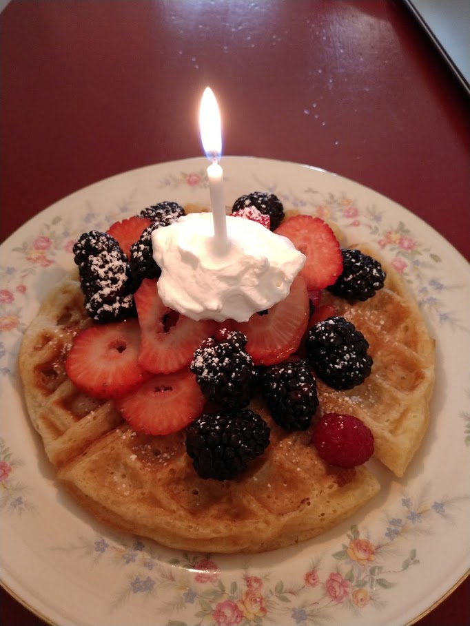 Birthday waffle