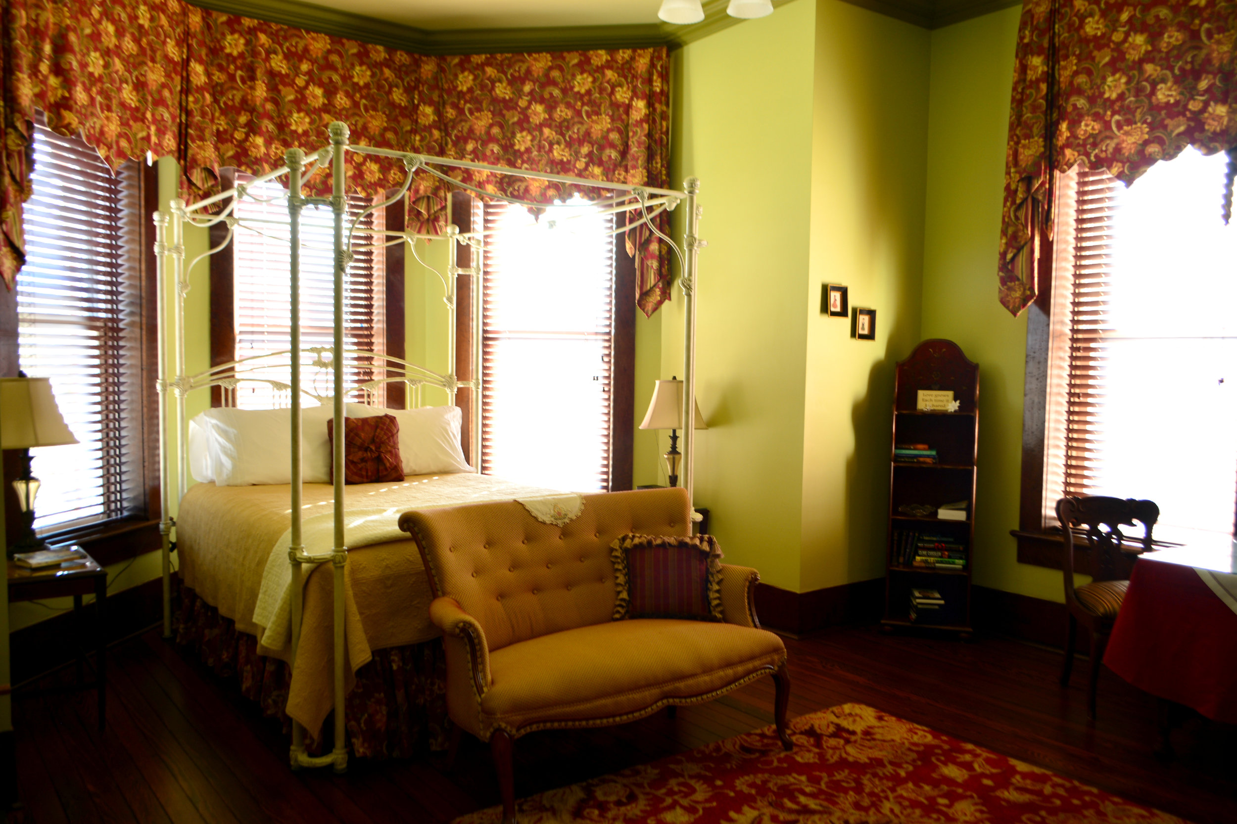 Bay Room - with its 4-poster bed framed by a tall bay window?