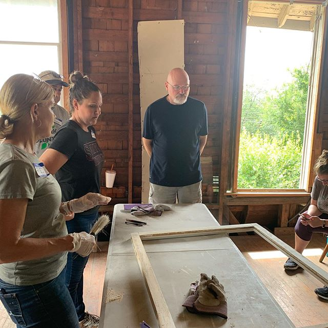 So thankful to #TeamOHP at @sapreservation led by @preservationgal and @stephthesconnie and our friend Steve at @woodwindowmakeover for bringing my windows back to life and teaching people to do the same with other beautiful old windows. Awesome!! #sapreservation #powerofpreservation @popsatx #rehab #reducereuserestore #windowsmatter #historicpreservation #tradeseducation #livingheritage