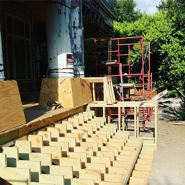 Soon I'll have stairs again!! Can't wait! #powerofpreservation #sapreservation #kelsohouse #rehab #preservationtrades @popsatx @guidocompanies