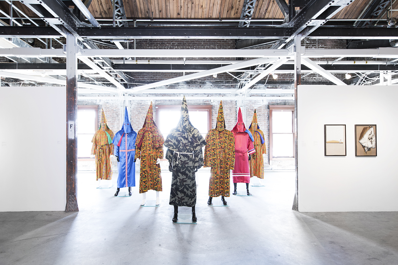 Paul Rucker  Birth of a Nation,  7 KKK robes, 2016 Image by Rafael Soldi