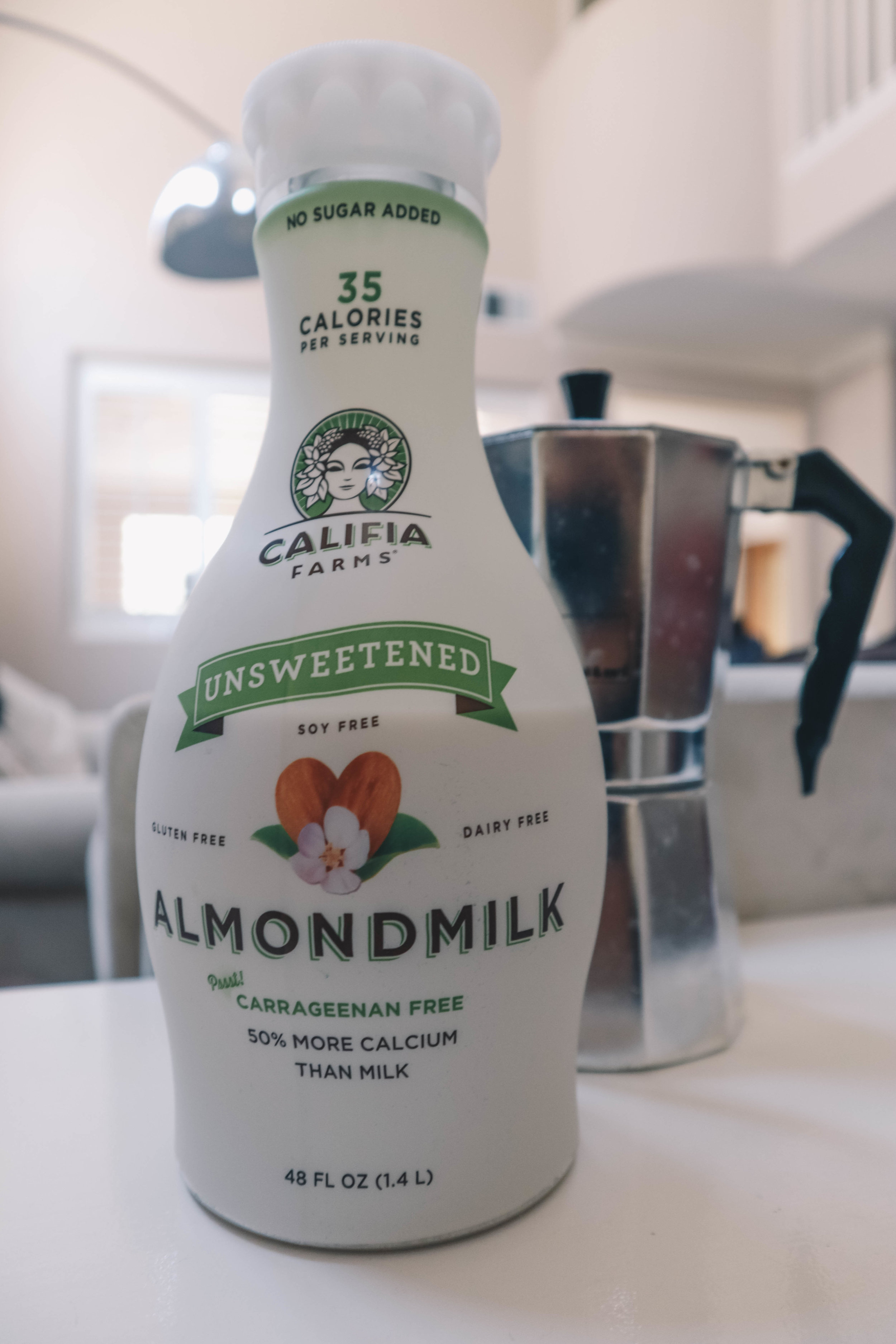 Califia Farms Almond Milk - I am verylactose intolerant. This almond milk is unsweetened, preservative and carrageenan free, locally produced in Southern California, and is incredibly delicious! Also, it was on sale for 2 for $5 at Vons. How could I say no?
