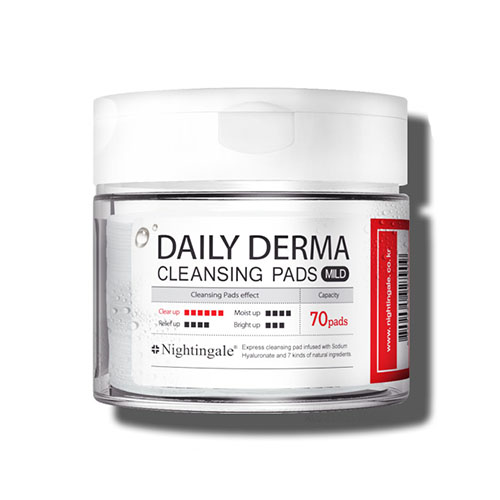 Nightingale Daily-Derma Cleansing Pads Mild ($19) - Perfect for sensitive, acne-prone skin.