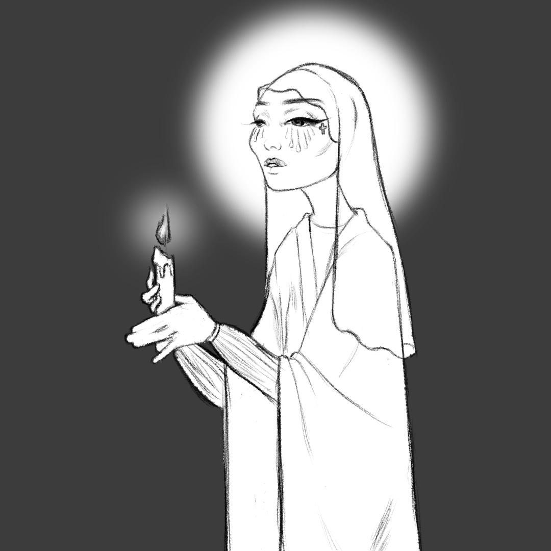 Candlelit Gravekeeper