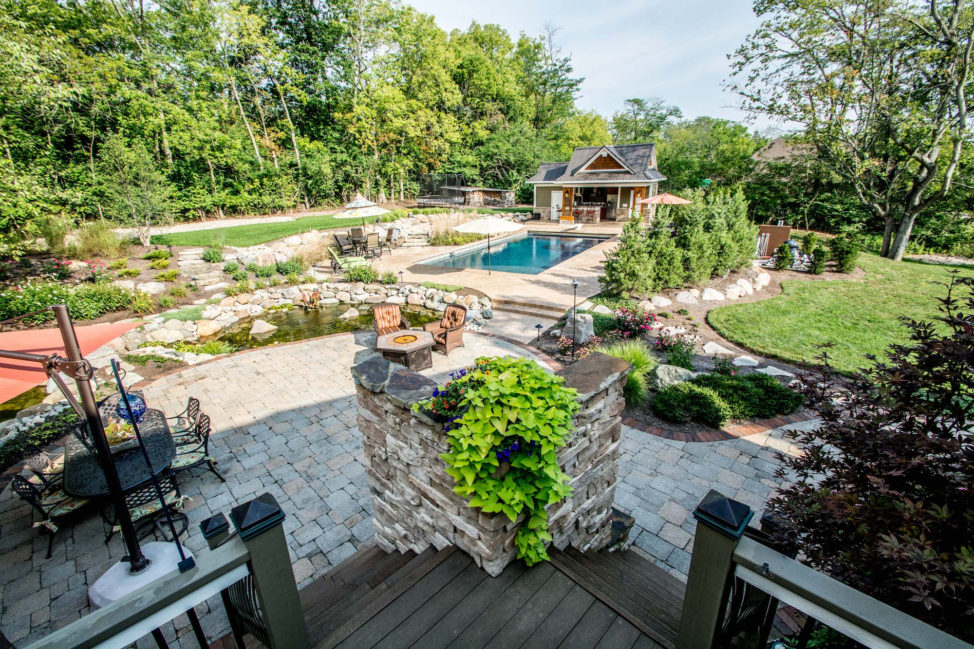 A Grunder Landscaping Co. project in Dayton, OH.