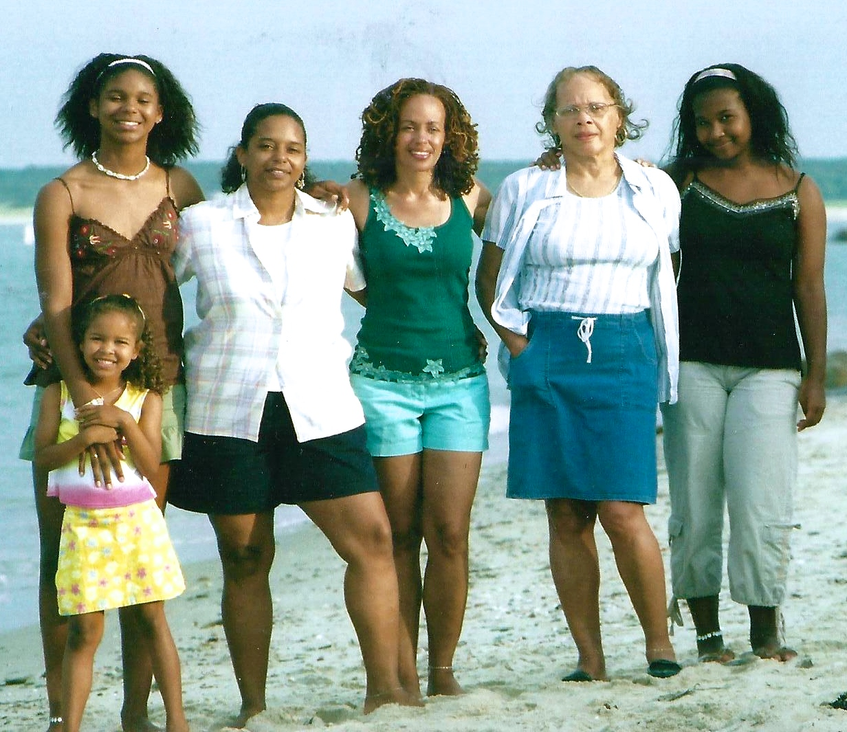With my sister Terri and the girls, 2005.
