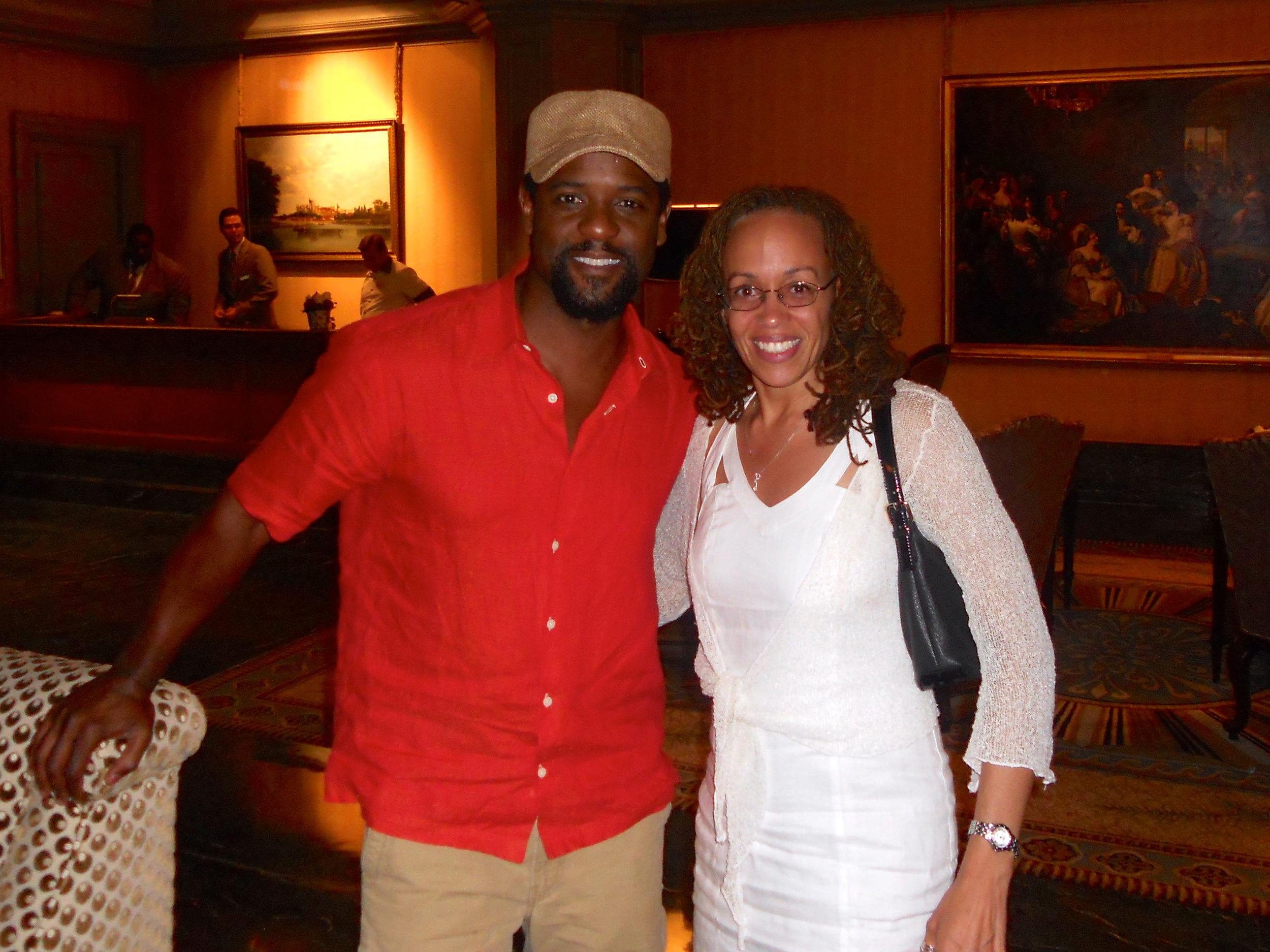 "The one and only fine and friendly Blair Underwood! So great to connect with him and his fam. Catch him in ""Ironside"" on NBC this fall!"