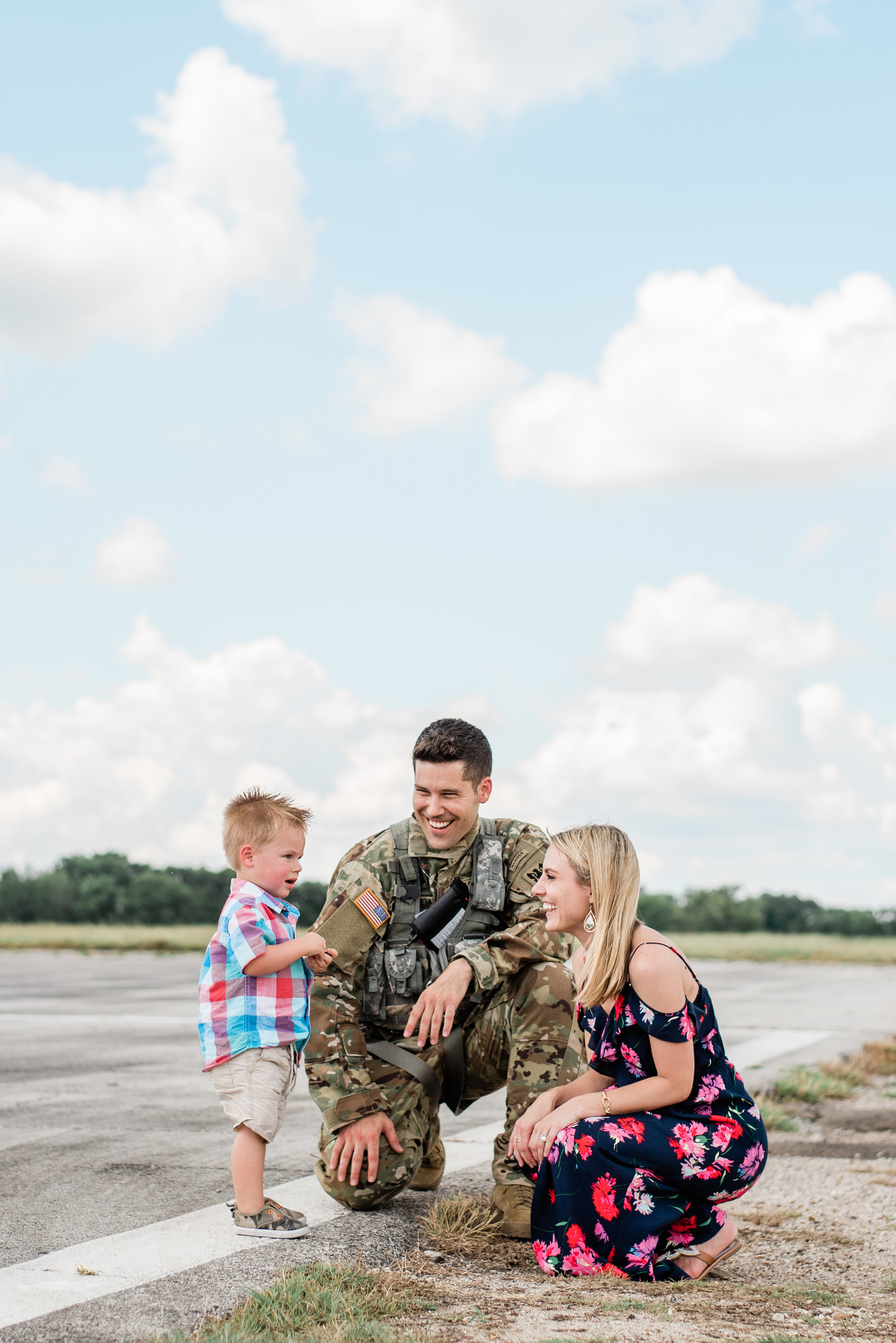 Arrington Flight School Family Day! - Family days are always fun to photograph. It's like even though we know our spouses leave to go fly helicopters everyday it doesn't really sink in that they ACTUALLY fly helicopters until you see them fly in on family day!This family was an absolute joy to meet and I think it's safe to say that their little guy, Hunter, is a big fan of helicopters! Maybe he'll grow up to be a helicopter pilot just like his daddy!Check out all the cuteness below!