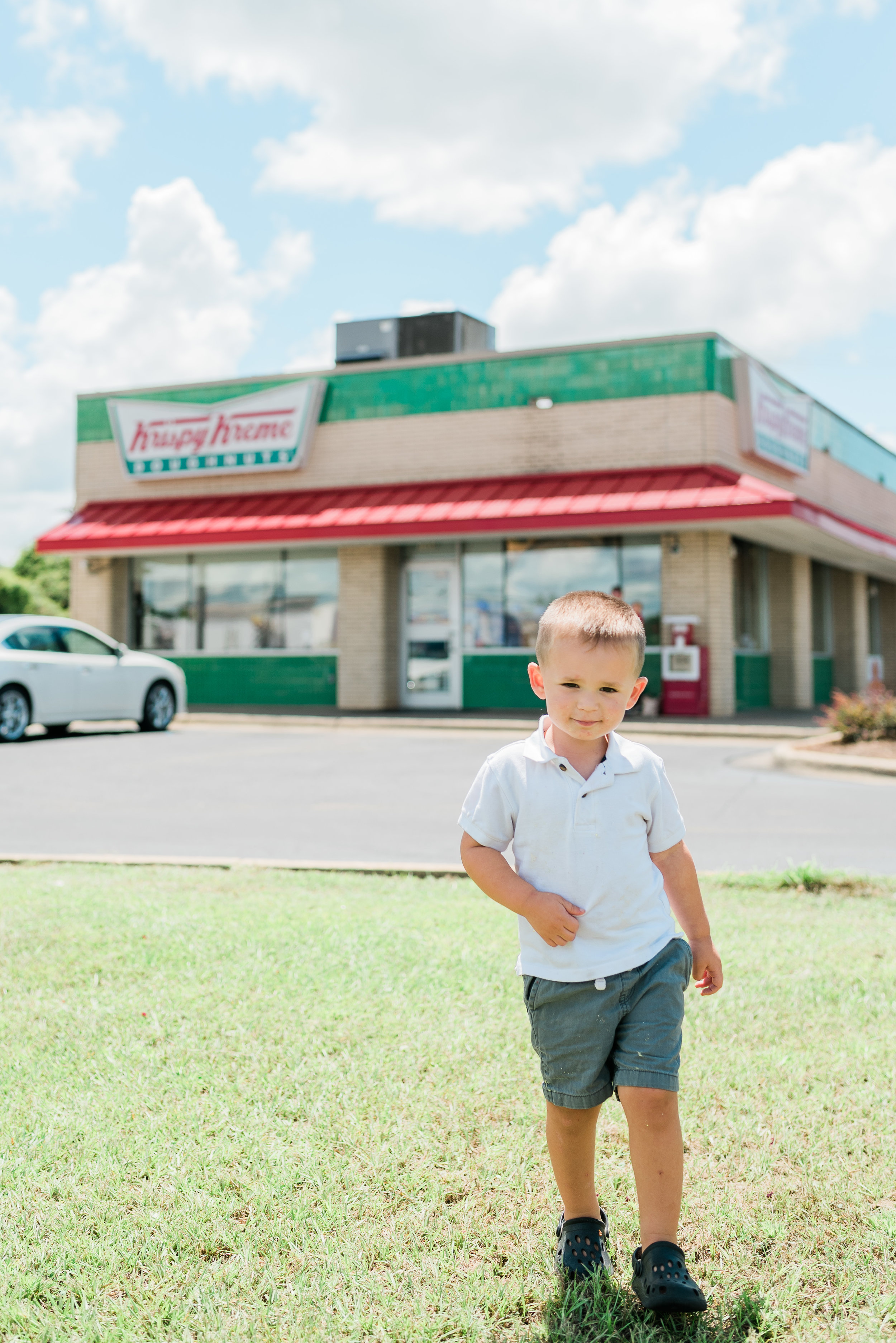 Krispy Kreme Birthday Doughnuts - Happy 3rd Birthday to my favorite little guy! This year we celebrated with one of his favorite things... DOUGHNUTS!