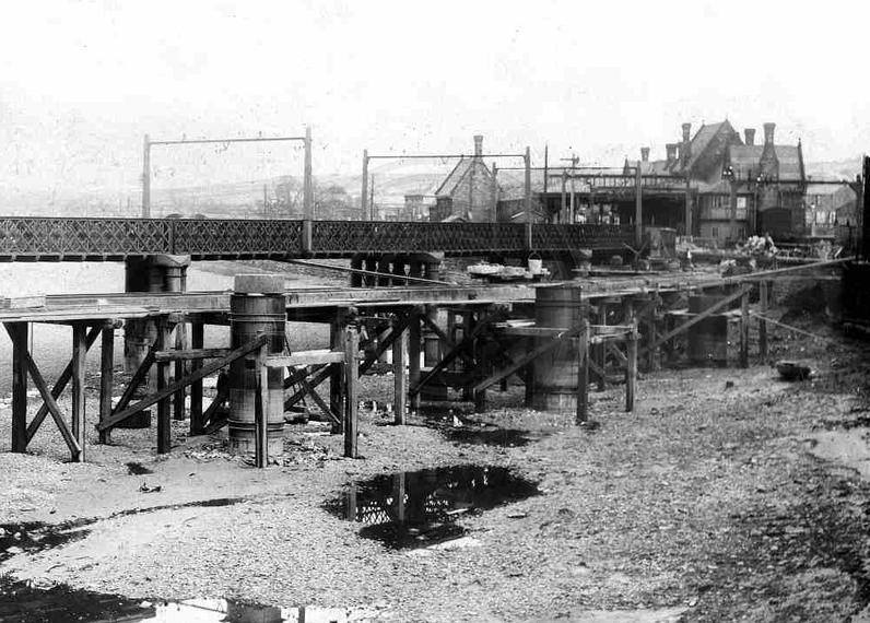 The construction of the new Greyhound bridge (foreground) with the original in the background. Posted to Lancaster Past & Present group on Facebook by Andrew Reillly.
