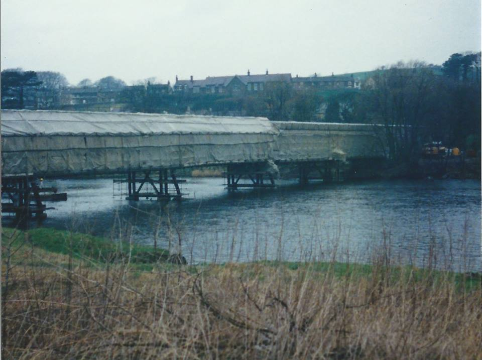 Renovation of the bridge in the 1990's.  Posted to Lancaster Past & Present group on Facebook by Michael Howie.