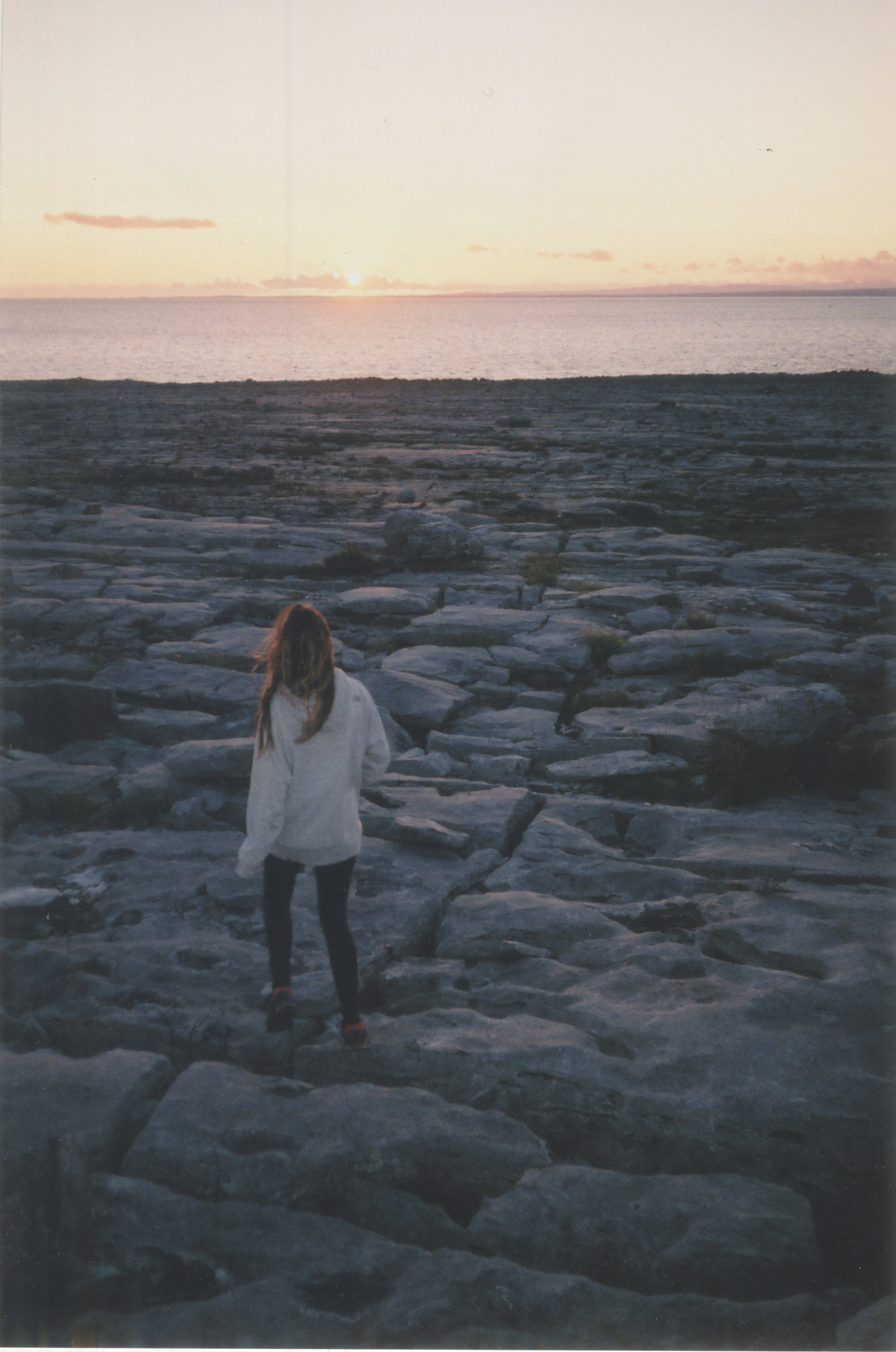 Off to find some seaweed, the sunset on the Wild Atlantic Way is something special..