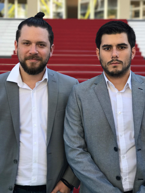 Ricardo Casal  (Left) +  Juan Javier Peña  (Right) ;Red Carpet (Behind)