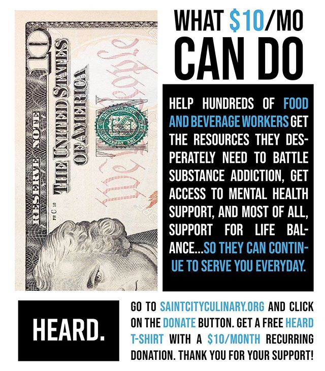 Help make a difference in the lives of the ones serving you everyday. Go to saintcityculinary.org and support us as we grow.
