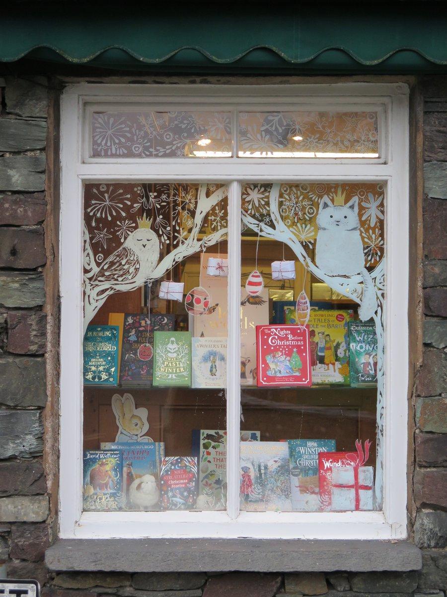 The children's window at Sam Read Bookseller, Grasmere.