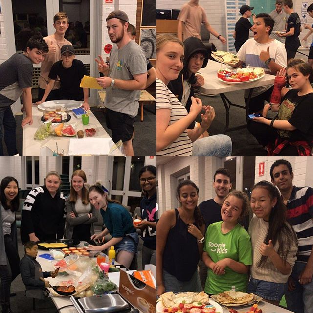 What a great crew! Thanks for making supper for everyone!