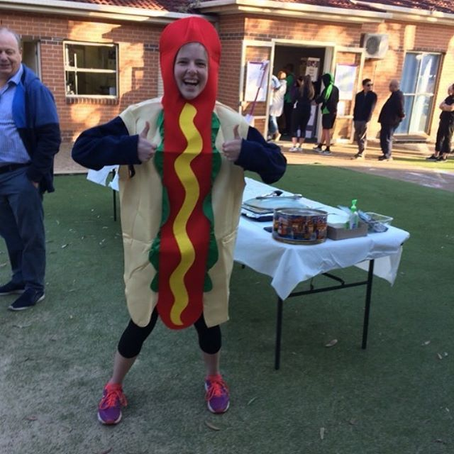 Don't be a silly sausage! Come help fundraise money for One80 camp! And keep everyone's belly happy while they wait to vote!