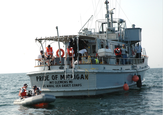 One of the foundation's training and research vessels, Pride of Michigan