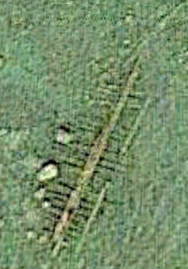 Wreck of the schooner  Consuelo  (#4) as viewed in Google Earth.