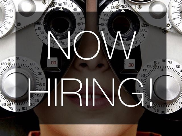 We are now hiring for an optician position (training is available!) If you or somebody you know is interested please send your cover letter and resume to goodeyecareers@gmail.com.