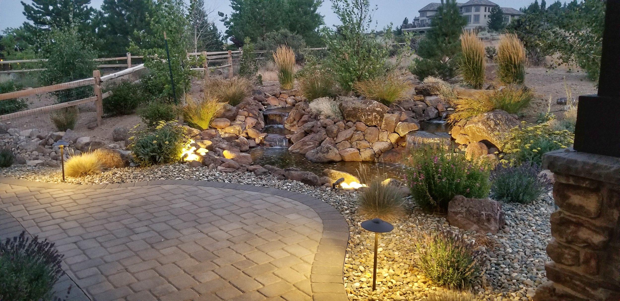 Evergreen Landscape Water Feature
