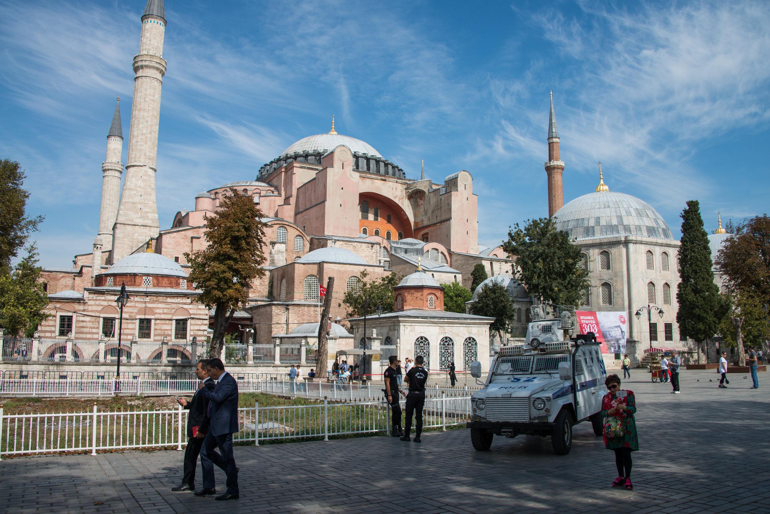 Police Presence in Front of Hagia Sophia