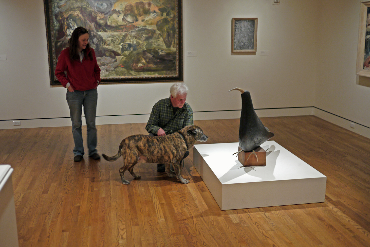 "Owners Steve and Tannis with dog Buddy at ""Thunderbird"" by Mark Sponenburgh, 1945/1950. Image taken on March 13, 2013."