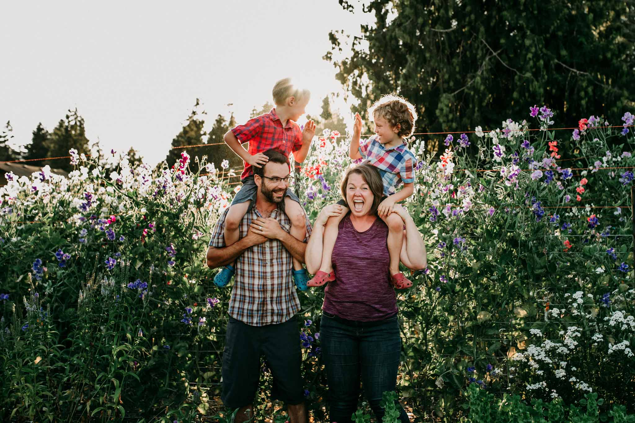 Sustainable Growth - With twins baby boys in the wagon beside her, Adria continued to grow Little Bee Blooms from her garden. As the boys grew older the business expanded to suit the needs of their family. Blooms are now grown to create beautiful sustainable weddings flowers and sell to local florists and at farmers markets, all while still maintaining their little farm stand.