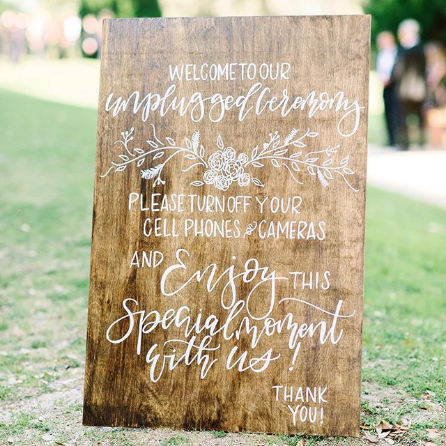 Photo: Aaron and Jillian Photography Calligraphy: J.Lily Design