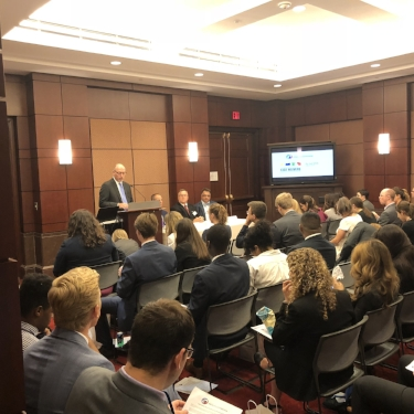 CAHC President Joel White welcomes Congressional staffers to the briefing