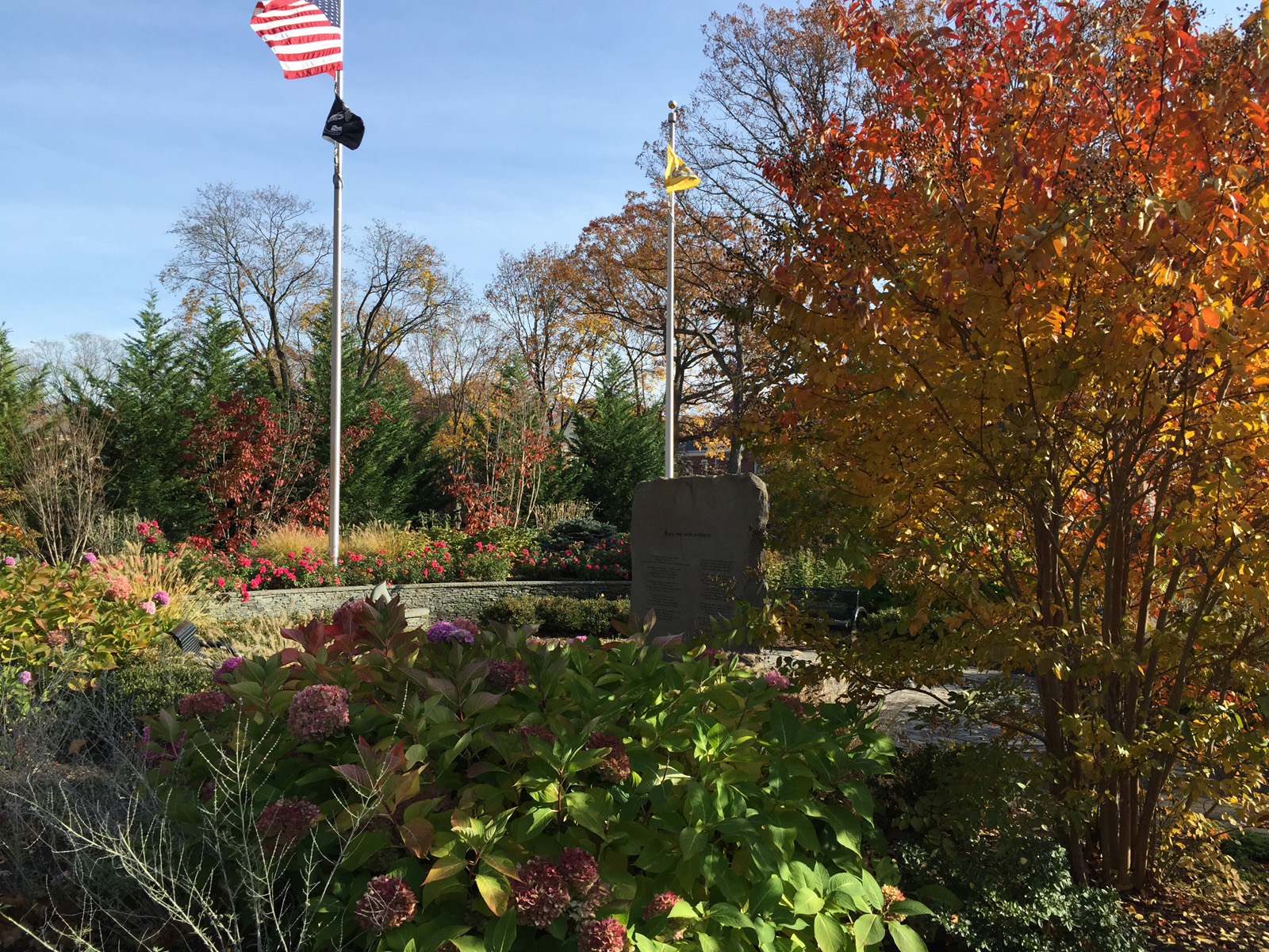 Professional memorial garden landscape design in Long Island, NY