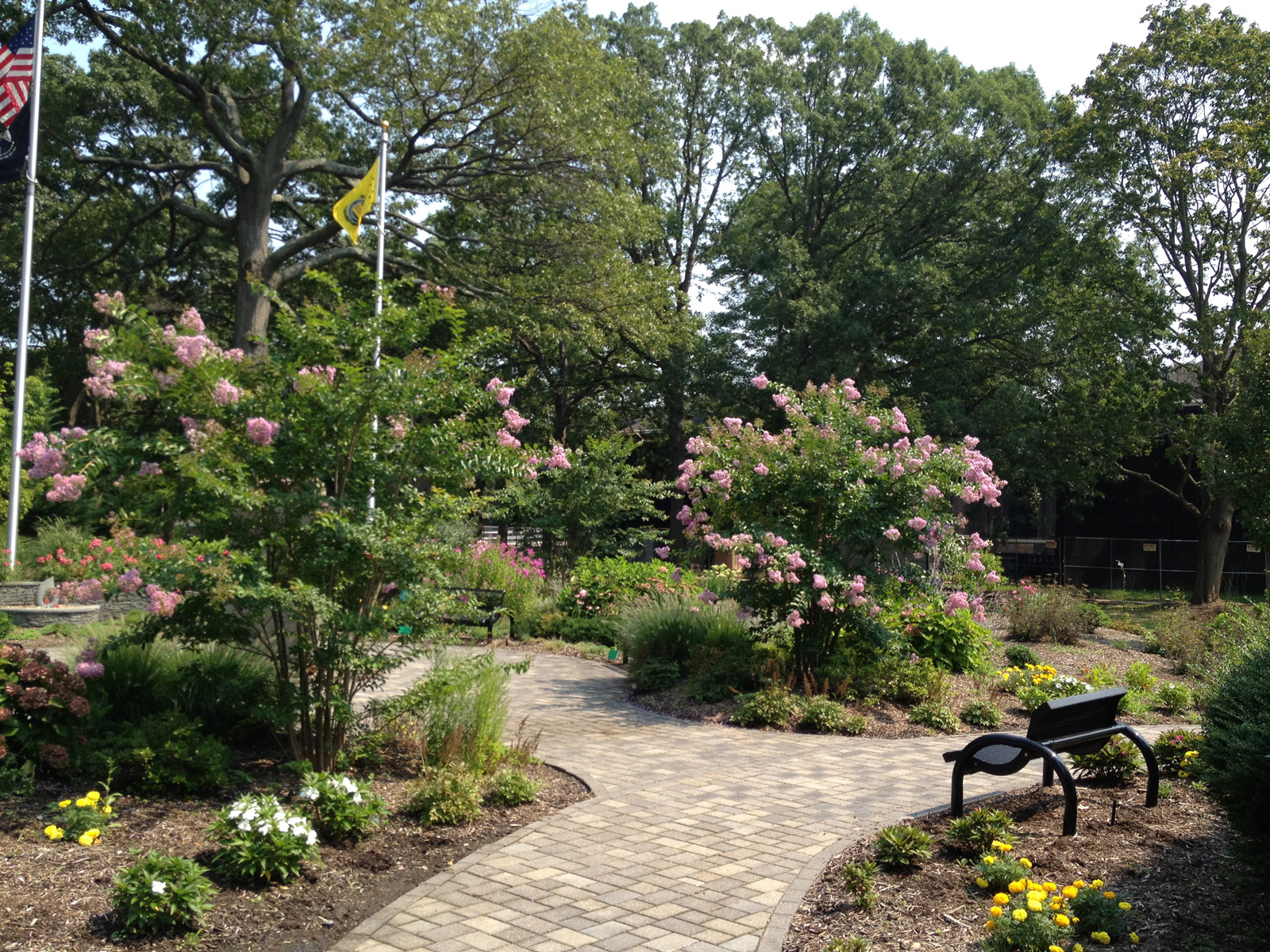 Professional landscape design with memorial garden in Long Island, NY
