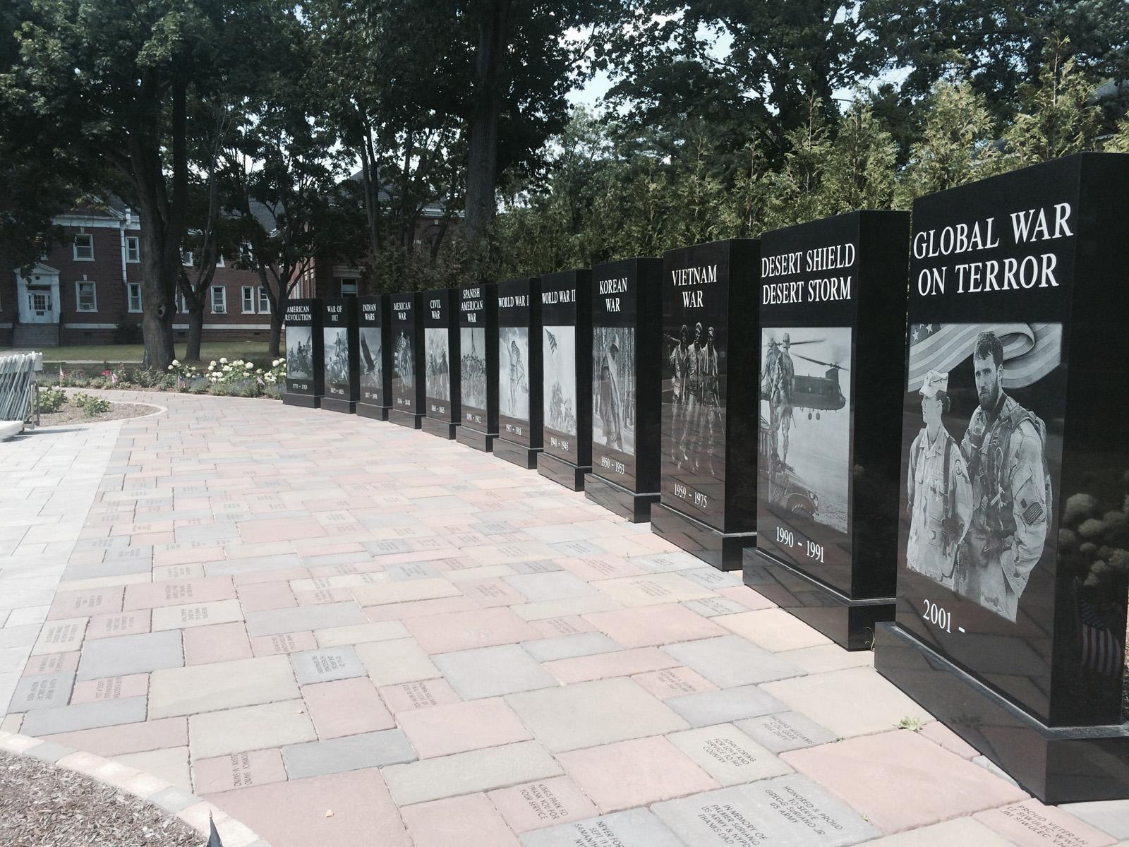 Professional memorial garden paver construction in Long Island, NY