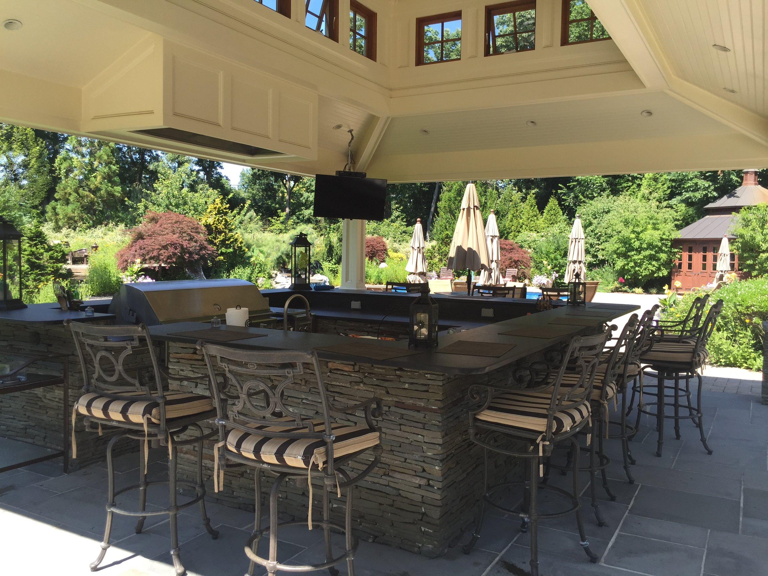 Top landscape design company with outdoor kitchen a in Long Island, NY