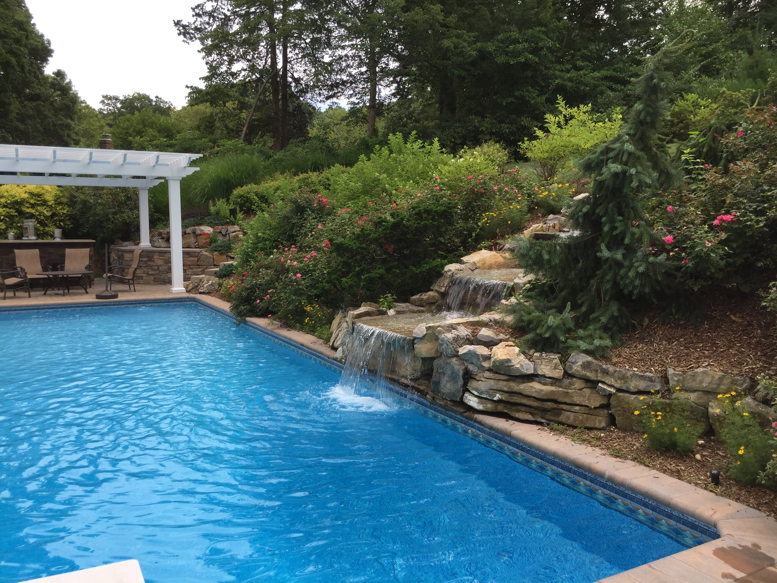 Top pool waterfall design company in Long Island, NY