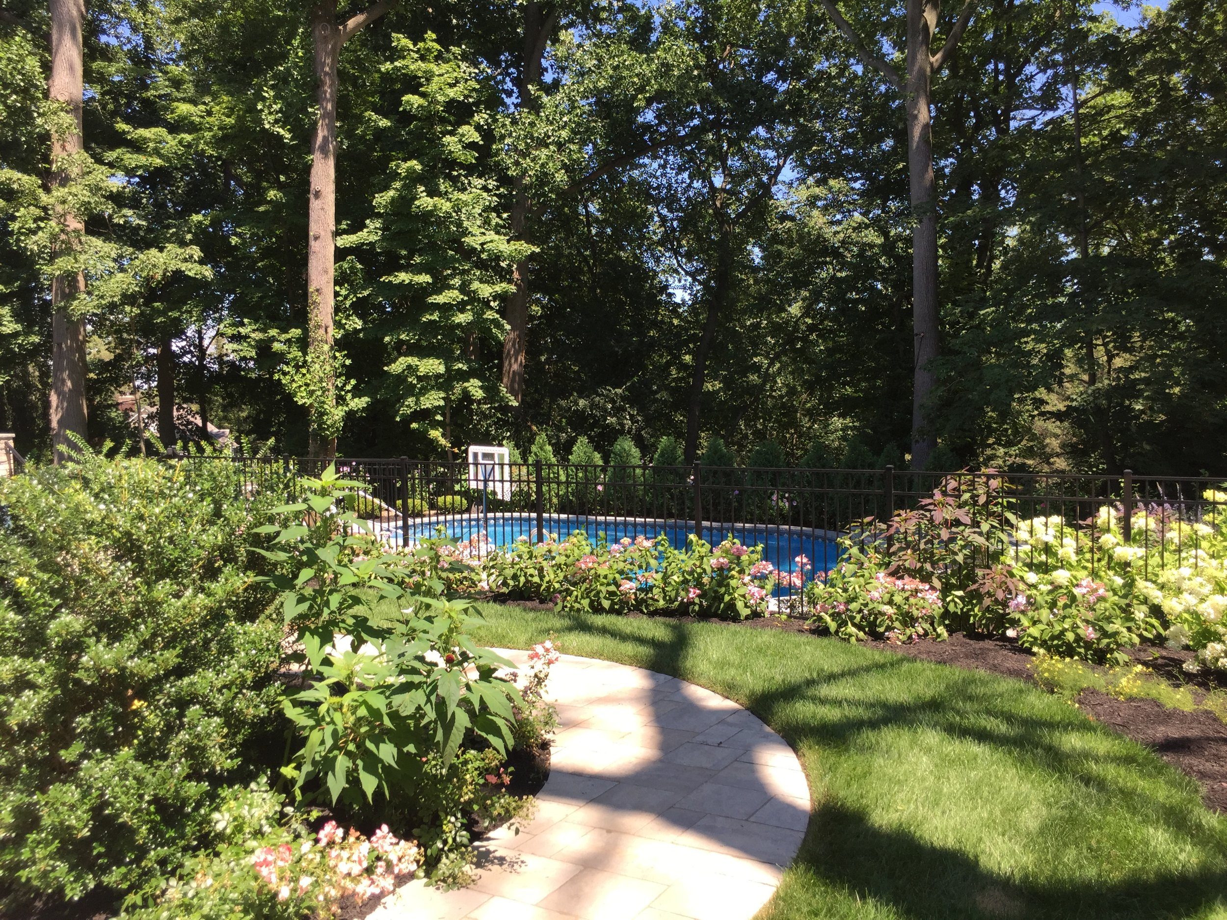 Experienced walkway planting design in Long Island, NY
