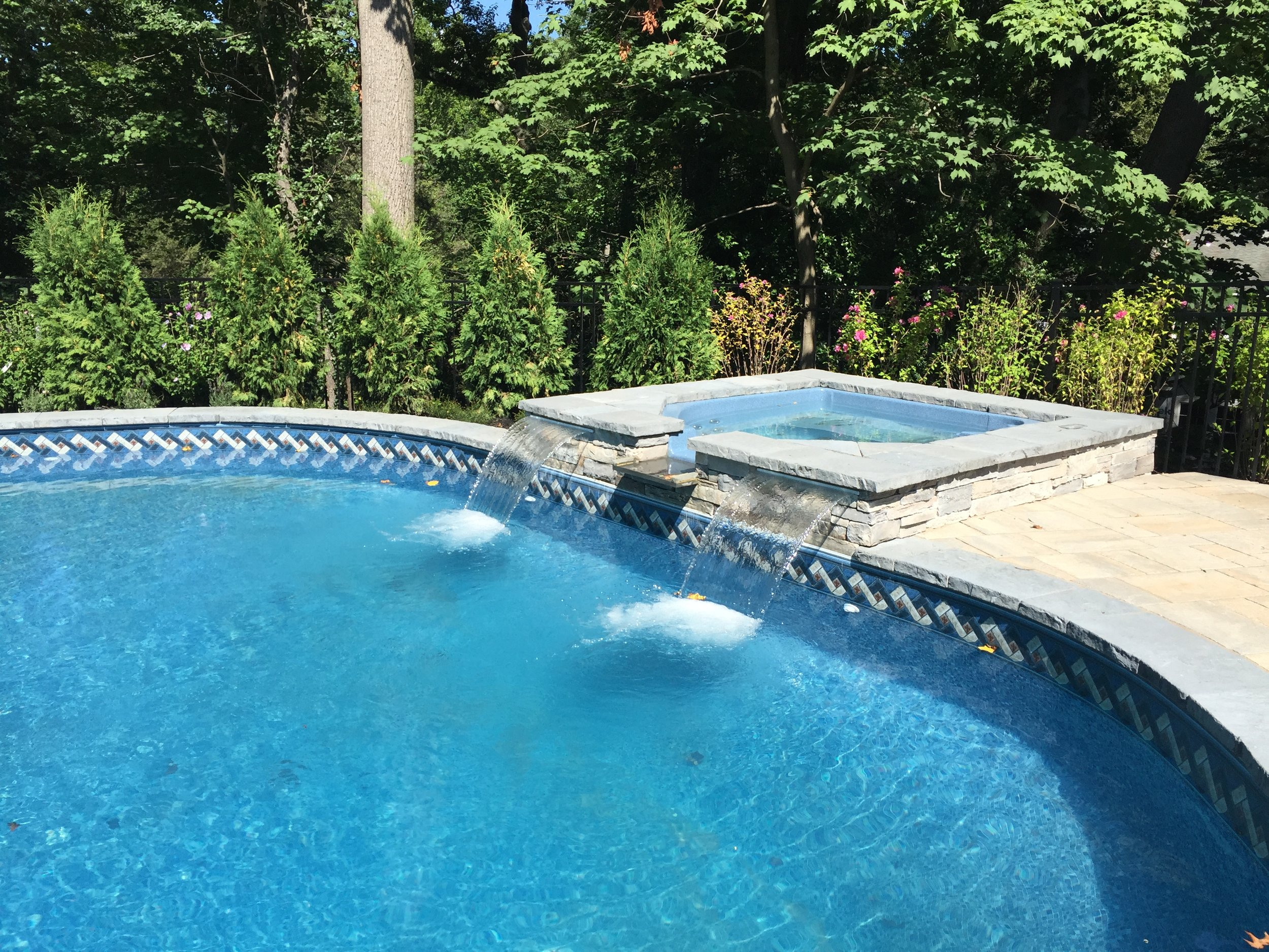 Professional pool waterfall design company in Long Island, NY