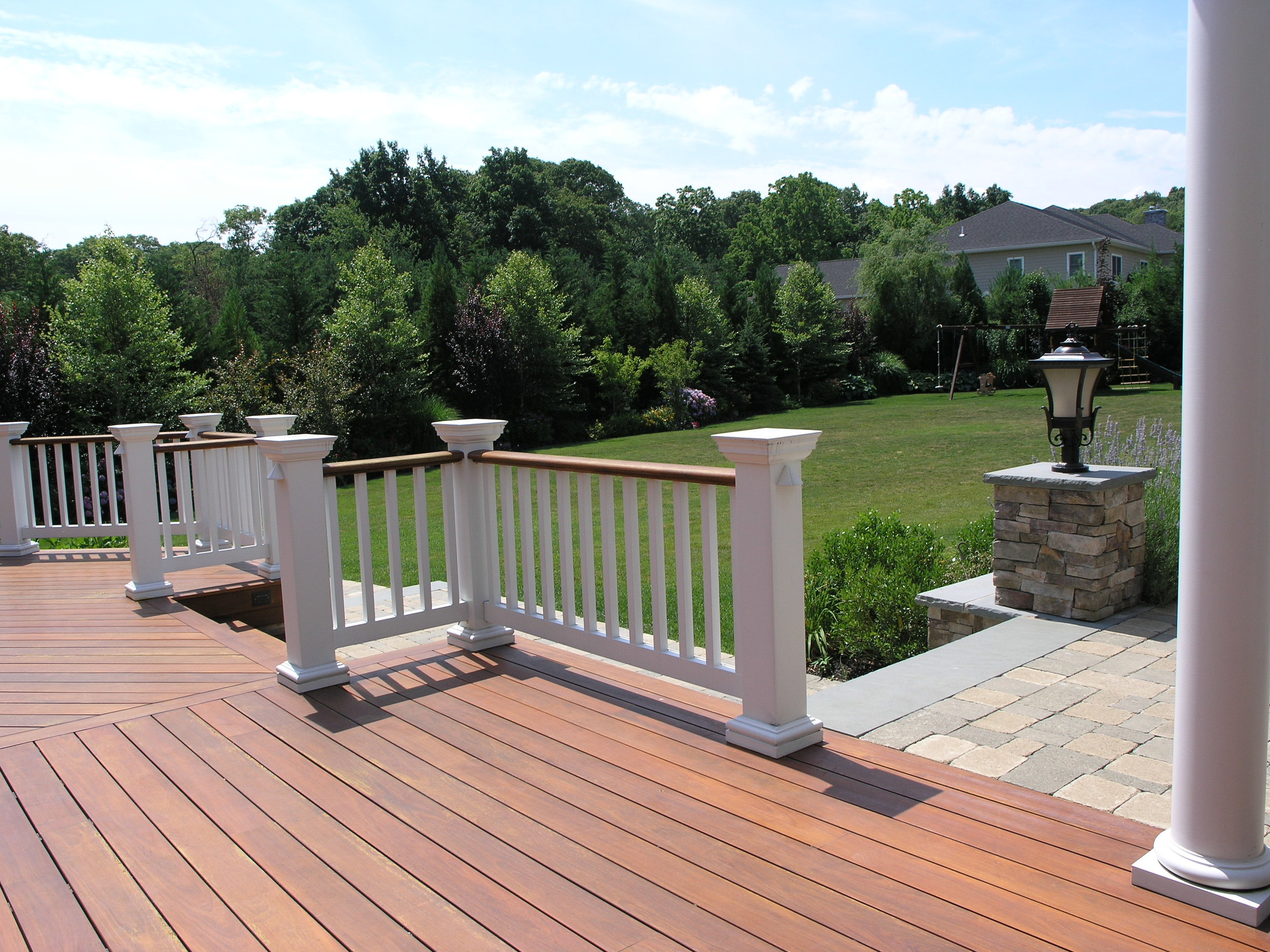 Top fence railing landscape design company in Long Island, NY