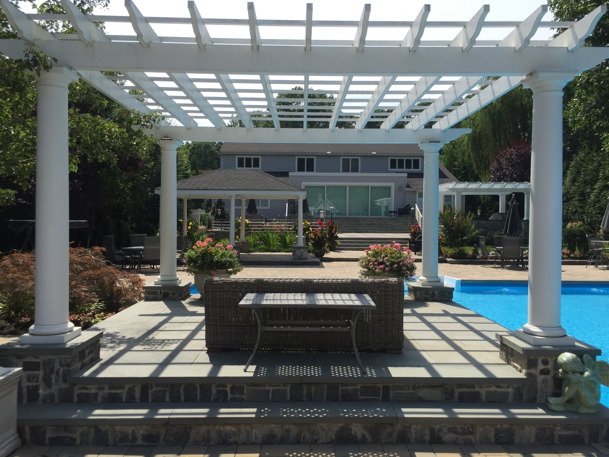 Professional pergola landscapedesign company in Long Island, NY